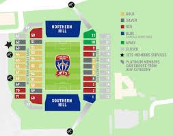 Mcdonald Jones Stadium Map Newcastle Jets Membership