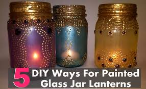 How To Decorate A Glass Jar 100 DIY Ways For Painted Glass Jar Lanterns Home So Good 70