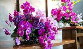 ... Small Orchid Arrangements How To Style A Case Purple Orchid Bridal Bouquet  Purple Orchid Flower Bouquet ...