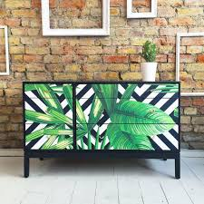 tropical painted furniture. upcycled vintage retro stag chest of drawers tropical palms decoupage furniturefloral furniturefurniture designpainted painted furniture
