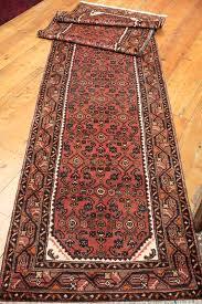 rug on carpet in hallway. 8485 Long Persian Hosseinabad Carpet Runner Rug 89x405cm On In Hallway