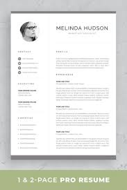 Modern Resume Sheet Professional Resume Template Resume With Photo 1 2