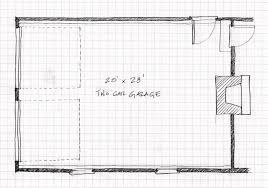Original 20 x 28 garage plan