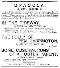 bram stoker dracula dracula publication notice