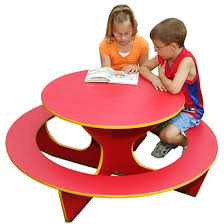 picture of kid s recycled plastic round activity table portable