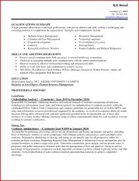 Skills And Ability Resumes Hr Skills For Resume Souvenirs Enfance Xyz