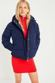 fila jacket womens. slide view: 1: fila navy puffer jacket fila womens urban outfitters