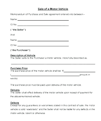 Motor Vehicle Sale Agreement Payment Installment Contract Template Motor Vehicle Sale