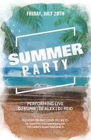 How To Make A Flyer Online Free Online Flyer Maker For A Summer Party A133
