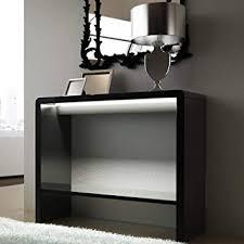 Beautiful Black Gloss Console Table Tiffany High Led I Intended Modern Ideas