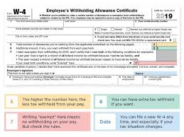 2019 W 4 Form How To Fill It Out What To Claim