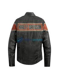 harley davidson victory lane mens black leather jacket