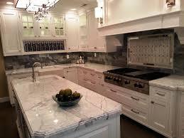 Kitchens With Granite White Wooden Color Kitchen Cabinets Undermount Kitchen Sink Mosaic