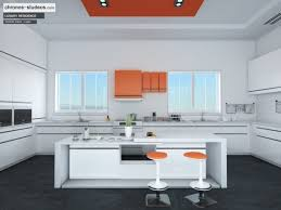 Orange And White Kitchen Making Of Ivory White Contemporary Kitchen 3d Rendering