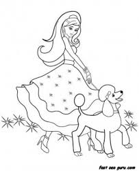 Printable Beautiful Barbie Coloring Pages Printable Coloring Pages