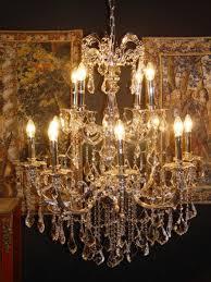 Casa Padrino Barock Kristall Kronleuchter 12 Flammig Silber Hängeleuchte Lüster Hängelampe Deckenlampe