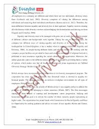 sample diversity essay co sample diversity essay