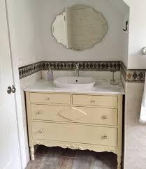 bathroom vanity from antique dresser