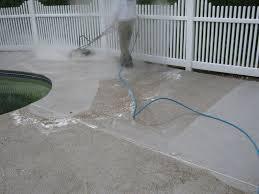 brick patio during hot water wash pool deck bluestone