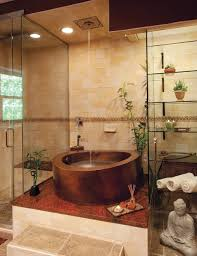 copper circular japanese whirlpool bath with partial skirt 42 round x 35 16