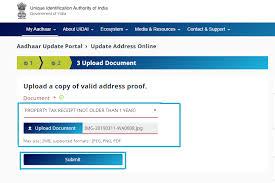 aadhar card update correction address