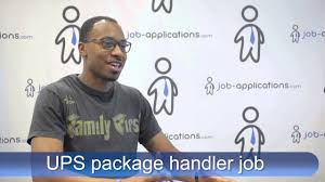 ups interview package handler you ups pay