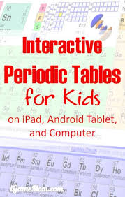 8 interactive periodic tables of elements with names charges and other information on ipad android tablet and puters great chemistry learning tools