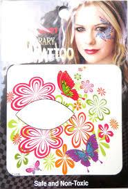 Eye Makeup Sticker Designs Amazon Com Butterfly Flower Eyeliner Eyelid Face Temporary