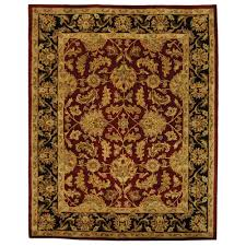 safavieh heritage red black 8 ft x 11 ft area rug