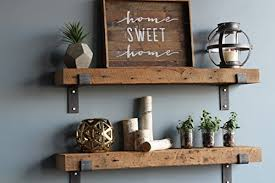 reclaimed wood mug rack urban rustic. Urban Legacy Barn Wood Shelves Chunky Rustic Industrial - Amish Handcrafted In Lancaster County, PA Set Of Two | 40 Inches, (Genuine Salvaged/ Reclaimed Mug Rack