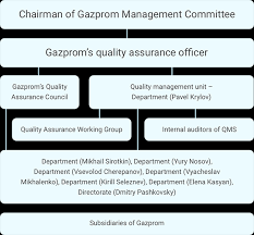 Quality Assurance System Chart Quality Management System Of Gazprom
