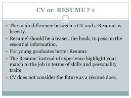 Difference Between A Cv And Resume This Is The Difference