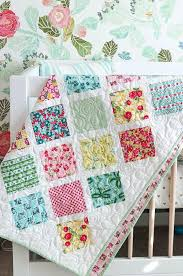 Baby Quilt Pattern Stunning Springtime Lattice Baby Quilt Tutorial FaveQuilts