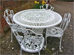 shabby chic outdoor furniture. Summer Castle Garden Furniture Elegant Vintage Shabby Chic White Cast Iron Set Table Outdoor