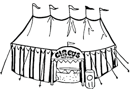 coloring tent coloring page cartoon nomads free in circus pages printable
