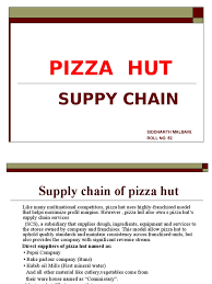 Resume Sourcing Hut Supply Chain Pizza Hut Inventory Supply Chain