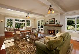 Mission Style Living Room Chair Craftsman House Plans With Interior Photos In Traditional
