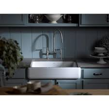 White Apron Kitchen Sink Kohler Whitehaven Undermount Farmhouse Apron Front Cast Iron 30 In