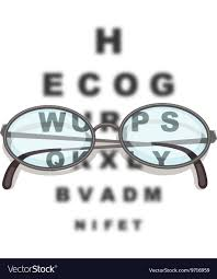 Pair Of Eyeglasses And Reading Chart