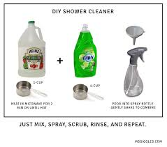 diy bathroom shower cleaner. a diy bathroom shower cleaner