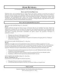 Resume Templates Teachers Resume Template Daycare Center Director