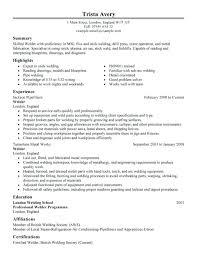 Welding Resume Examples Sample Welding Resume Welders Resume Welder