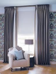 Interlined Triple Pinch Pleat Linen Chintz Curtains on Lath ...