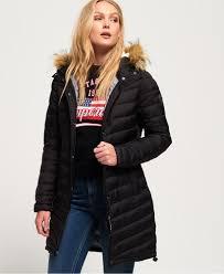 Superdry Uk Size Chart Women S Superdry Chevron Faux Fur Super Fuji Jacket Womens