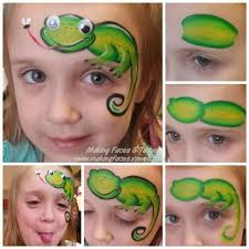 lizard face painting ideas for kids mais