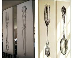 large silver fork and spoon wall decor walls decor pertaining to popular giant fork and