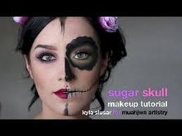 kyla slusar senior artist for muahjwn artistry shows you how to design your own half sugar skull makeup