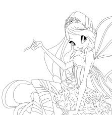 Winx Club Coloring Pages Bloom Winx