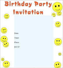 Invitation Cards Size Space Birthday Invitations Party Kids