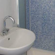 mosaic blue tile effect panels from the